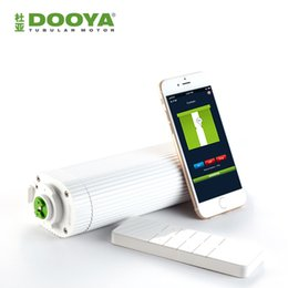Wholesale Curtain Tracking - Wholesale-Broadlink DNA Dooya WiFi Electric Curtain Motor DT360E Remote Control + super quite curtain track For Smart Home Automation