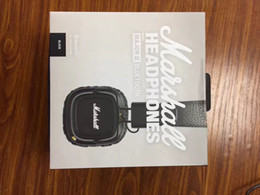 Wholesale Wireless Noise Isolating Headset - Marshall Major II 2.0 Bluetooth Wireless Headphones in Black DJ Studio Headphones Deep Bass Noise Isolating headset