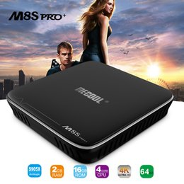 Wholesale Android Tv Pc 2gb - Best selling M8S Pro S905X Android 7.1 Smart TV Box Quad Core 2GB+16GB Wifi KD17.1 Fully Loaded 4K WiFi Mini PC