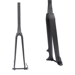 Wholesale Rigid Bike Forks - FCFB carbon fiber road bike fork 700 c Rigid Tapered Thru Axle 12mm carbon forks 1 1 8 super light carbon disc fork accessories