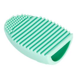Limpeza cosmética on-line-Brushegg Pro Ovo Luva De Limpeza Maquiagem De Limpeza Escova De Lavar Luva De Sílica Placa de Purificador de Cosméticos Ferramentas Limpas Escova De Limpeza Livre DHL