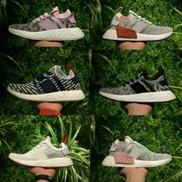 Wholesale Naked Red Women - Wholesale NMD R2 PRIMEKNIT HARVEST BY9409 Men Women CORE RED Pack TWO-TONED KITH NAKED PINK GREY BLACK WHITE Top Quality Real Boost