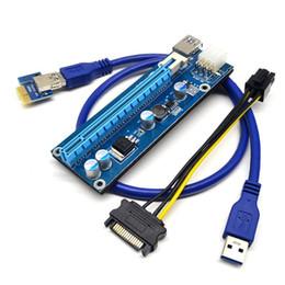 2019 mini itx pci Placa riser PCIe PCI-E PCI Express 1x a 16x USB 3.0 Cabo de dados SATA para 4Pin IDE Molex fonte de alimentação para BTC Miner Machine