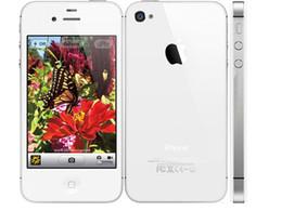 Wholesale Dual Sim Ios - Original Apple iPhone 4S Cell Phone unlocked phone Dual core 32GB 3.5 inch 8.0MP IOS 8 Single SIM Best Quality iPhone 4S Mobile 002834