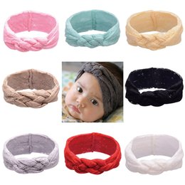 Wholesale Elegant Children Hair Accessories Wholesale - Elegant 8 Colors Lace Weave Hair Accessories HAIR BOWS Pattern Fairy Tiara Headband Hair Accessories for Children Newborn Props