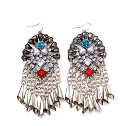 Wholesale Glass Flower Chandeliers - Fashion Jewelry Women's Girl's Earrings Crystal Glass Pandants Earrings Best Gift