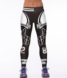 Wholesale Gothic Clothing Wholesale - Wholesale- 3D Printed Super Man Women sporting leggings Punk Rock Gothic Fitness Clothing America Footballs Leggings Capris Slim Runs Pants