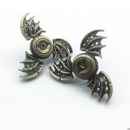 Wholesale Toy Demon - Demon Eye Finger Gyro Bronze Flying Wings Three Leaf Bat Hand Hand Spinner Finger Gyro Rotating Decompression Toys