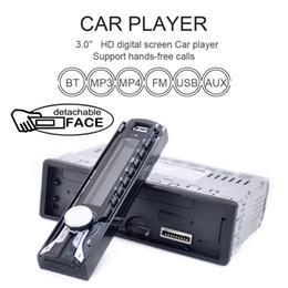 Радио фронт онлайн-Автомобильный аудио стерео FM MP3 радио плеер со съемной передней панели USB пульт дистанционного управления CAU_01K