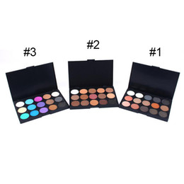 Wholesale Eyeshadow Logo - New arrivals 15 color makeup earth eyeshadow palette waterproof Matte eye shadow mixed order (100 pcs  lot) WITHOUT LOGO