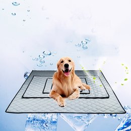 Wholesale Cooling Mats - New Pet Supplies Summer Ice Cool Pet Pad Dog Cat House Kennels Mats 3 colors 4 sizes options Wholesale DHL free