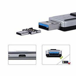 Mini adaptateur otg en Ligne-1000 PCS Mini USB Flash Disk U Disque 5pin Micro USB OTG Câble Adaptateur Convertisseur Pour Xiaomi HTC Samsung HuaWei Tablet Cabo