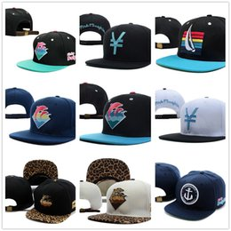 Wholesale Snap Backs Leopard - Pink Dolphin Spring Waves Leopard Strapback Snapbacks Hats Fashion Hip Hop Street Hat Womens Mens Snap Backs Black Sports Cap