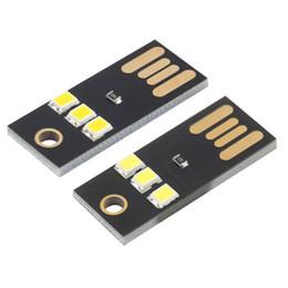 2019 materiales de puesta a tierra 2 piezas de alta calidad Mini USB luz de noche Camping LED móvil USB lámpara blanca / luz cálida de 0.2 W, potencia ultrabaja, 2835 chips