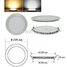 Wholesale Off Grid Light - Wholesale- 5pcs lot Ultra thin led down light lamp 25W led ceiling recessed grid downlight slim round panel light DHL Free shipping