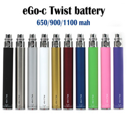 Wholesale Ego Kit Ce4 Twist - eGo-c Twist Battery Electronic Cigarette Variable Voltage Battery 3.2-4.8V 650mah 900mah 1100mah Vision Spinner eGo Kit E cigarette CE4 MT3