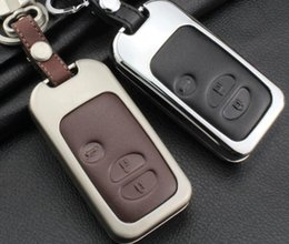 Wholesale Subaru Xv - Zinc Alloy&Leather Car Key Case Cover For Toyota Land Cruiser Prado 150 Camry Prius Crown For Subaru 2013 2014 Foreste Outback XV legacy