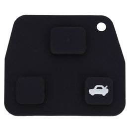 Wholesale Toyota Buttons Rubber - C91 Car Remote Key Holder Case Shell 3-button Rubber Pad for Toyota Easy to Install Protect Buttons From Excessive Wear