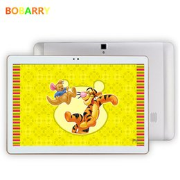 Wholesale Kids Tablet Computers - Wholesale- BOBARRY 10.1 inch S106 Octa Core 2.0GHz Android 6.0 4G LTE 64G tablet android Smart Tablet PC, Kid birthday Gift super computer