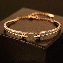Personnalité Punk Bracelets De Mode 18 K Plaqué Or Zircon Bracelet Bracelet Européenne Manchette Bracelet Partie Bijoux ? partir de fabricateur