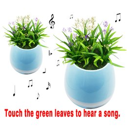 Wholesale Outdoor Potted Flowers - TOKQI Bluetooth Smart Touch Music Flower pots Plant Piano Music Playing K3 Wireless Flowerpot(whitout Plants)