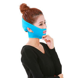 Wholesale Lift Up Face Mask - Free shipping Face lift Tool Wrinkle Reducing V Line Shaping Chin Cheek Muscle Lift Up Slimming Mask Ultra-thin Belt