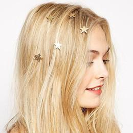 diadema de plástico para niñas grandes accesorios para el cabello Rebajas 1 UNIDS2016 últimas estrellas de oro bobina primavera clips horquilla Joyería Del Pelo para la mujer niña cabeza accesorios Boda