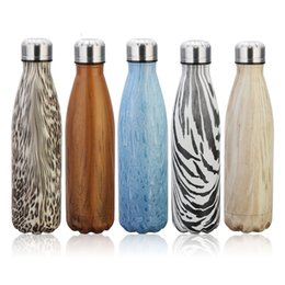 Wholesale Hand Testing - 17oz 500ml Cola Shaped Water Bottle Insulated Double Wall Vacuum 304 Stainless steel Bottles Creative Thermos Coke cup