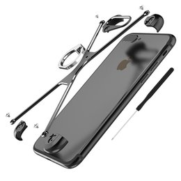 Wholesale Iphone Border Cases - X Shape Case For Apple iPhone 7 Personality Shell for iPhone 6s Plus 7 Plus Metal Border Metal Bumper Ring Holder cases
