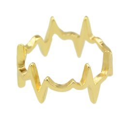 Wholesale Gold Plated Knuckle Rings - Rock Punk Style Spike Mid Finger Rings Gold-Color And Silver Color Black Nail Knuckle Rings For Women