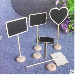 Wholesale Blackboard Table - Message Wooden Board Irregular Mini Blackboard Chalkboard Holder with stand for Party Wedding Table Decoration Free Shipping