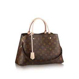 Wholesale Real Leather Shoulder Bag Messenger - Free shipping Top quality genuine real leather women's handbag pochette Metis shoulder bags crossbody bags messenger handbags purse L7857V
