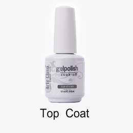 Wholesale Wholesale Hot Sale Soak - Wholesale- 15ml Hot Sale 1 x ARTE CLAVO No Wipe Top Coat Soak Off UV Gel Nail Art Nail Polish Gel Nail Art Builder Gel Set