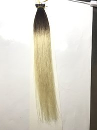 "Wholesale Taped Wefts Hair Extensions - 50g 20pcs Tape In Human Hair Extensions 16""-26"" Beach Blonde color Adhesive Skin Wefts PU Tape Hair"