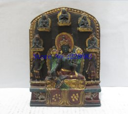 Wholesale Hand Carved Crafts - 100% Tibetan traditional hand-carved crafts, collection old 8 buddha statue from Tibet ,free shipping