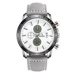 Wholesale Men Crystal Leather - SENORS 005 NEW ARRIVAL Wrist Watch Men 2017 Top Brand Luxury Famous Wristwatch Quartz Watch Leather Belt Mens Watches Sports watch