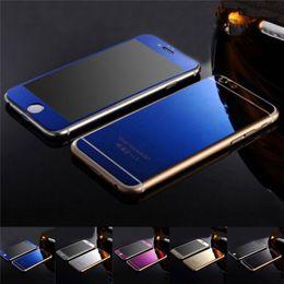 Protecteur d'écran de film de verre trempé couleur placage de miroir membrane de miroir anti-déflagrant 9H pour iphone7 iPhone 6s 6plus 5s avant et arrière ? partir de fabricateur