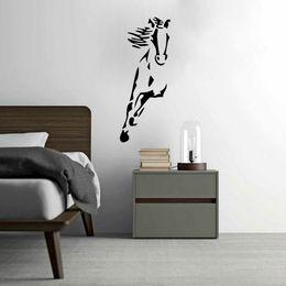 Wholesale Wild Decor - Wild Running Horse Art Vinyl Wall Sticker Animal Creative Wall Decal for Home Decor