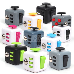 Wholesale newest toys - Newest Popular Decompression Toy Fidget cube the world's first American decompression anxiety Toys 12 Colors Fast Shipping Free DHL