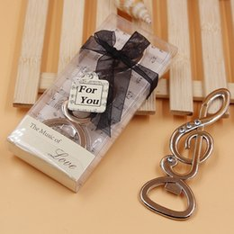 """Wholesale Musical Notes Favors - """"The Music of LOVE"""" Symphony Musical Note Diamond Bottle Opener Wedding Favors Bridal Shower Party Gifts"""