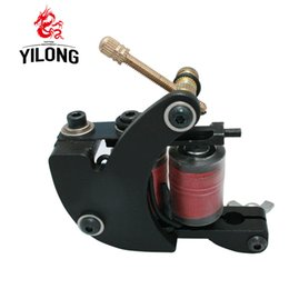 Wholesale Tattoo Machine Coil Copper - Professional Casting Iron Tattoo Machine 10 Wraps Coil Stainless Steel Tattoos Body Art Gun Makeup Tool 1001205