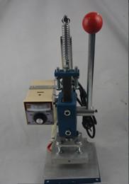 Wholesale Hot Stamping Printer - Manual Hot Foil Stamping Machine Leather Printer Creasing Marking Press Machine Embossing Machine 10x13