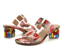 Wholesale Sexy Sandalias Mujer - Brand Slippers Sexy High Heels Shoes Woman Rhinestone Flip Flops Gladiator Sandals Women Beach Slides Sandalias Zapatos Mujer