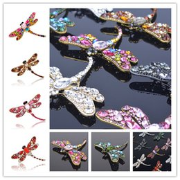 Wholesale Dragonfly Pin Girl - New Fashion Jewelry Accessories Vintage Brooch High-grade pin small dragonfly Brooches For Women Girl Jewelry CB116