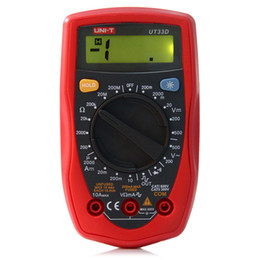 Wholesale Only Professional - Palm Size Digital Multimeters Professional Electrical Handheld Ammeter Multitester With Backlight Data Hold UNI-T +B