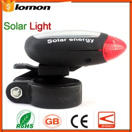 Wholesale Solar Energy Bike - Cycling Tail Rear Red Light Solar Power Bike Bicycle LED Lamp Taillight 2 Super Bright Red LED Outdoor Sports Lighting Solar Light Energy