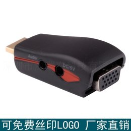 Wholesale Audio Power Connectors - HDMI TO VGA with audio power adapter HDMI revolution of VGA mother although band power connector