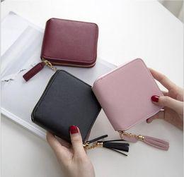 Wholesale nice bags for girls - 2017 Best Selling! Genuine Leather Women Short Wallet Zipper Purse Short Handbag 3 Colors For Girl Lady Nice Gift Money Bag