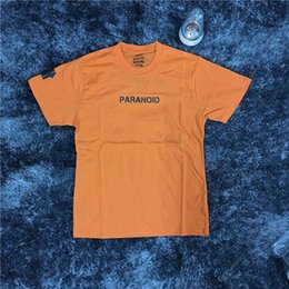 Wholesale Undefeated Xl - 2018 Fashion Summer Kanye West GD t-shirt quality T Shirt Men Women Paranoid Undefeated 100%Cotton