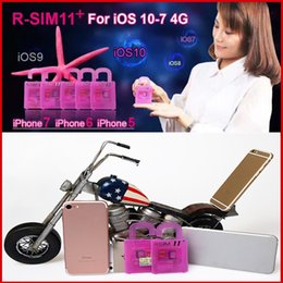 Wholesale Au Unlock - r sim 11+ rsim 11+ RSIM11+ r sim11+ plus unlock card for iPhone 7 plug iphone 6 unlocked iOS 10.x-7.x 4G CDMA GSM WCDMA SB AU SPRINT